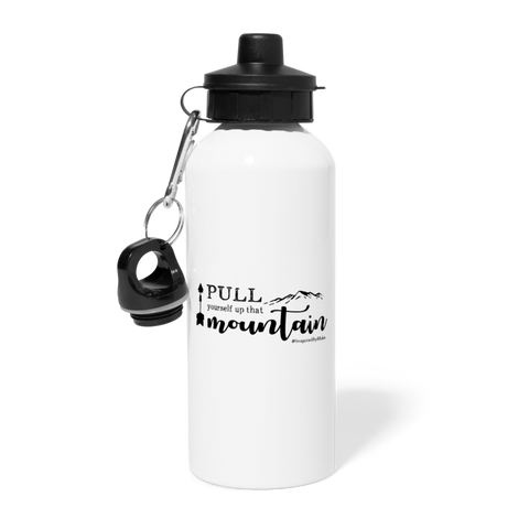 Pull Yourself Up That Mountain - Water Bottle - white