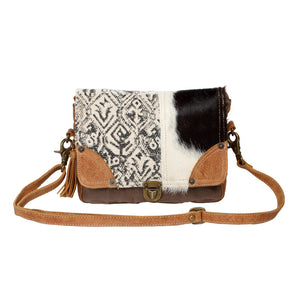 Rug and Hair-on Flap Messenger Bag