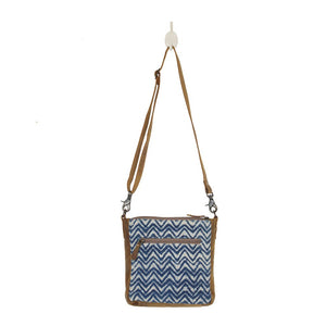 Indigo Shibori Print Cross body