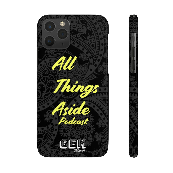 All Things Aside Podcast Phone Case