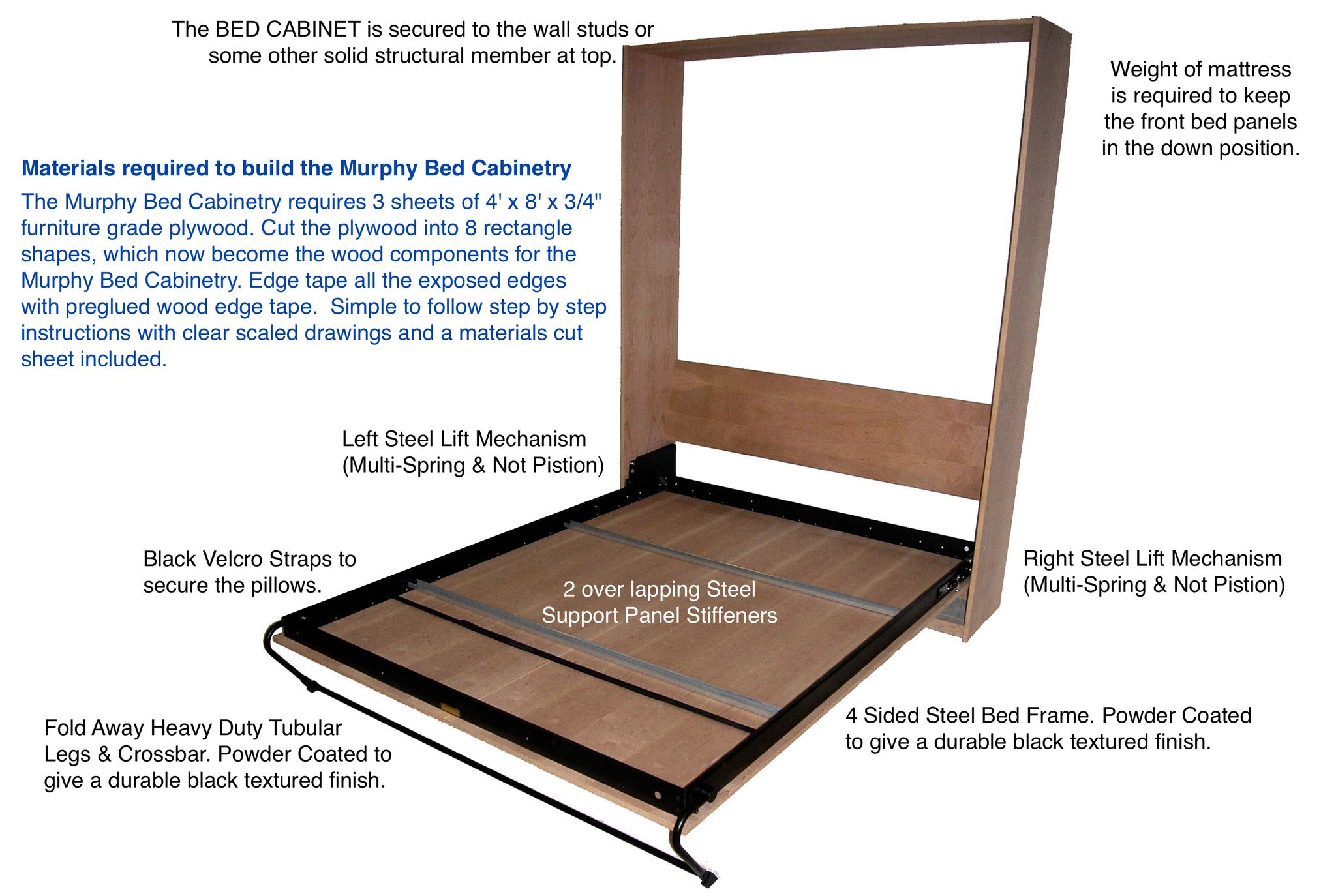 upright supreme hardware - Murphy Bed Frame