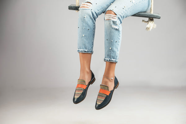 SIWA Cut-Out Loafers