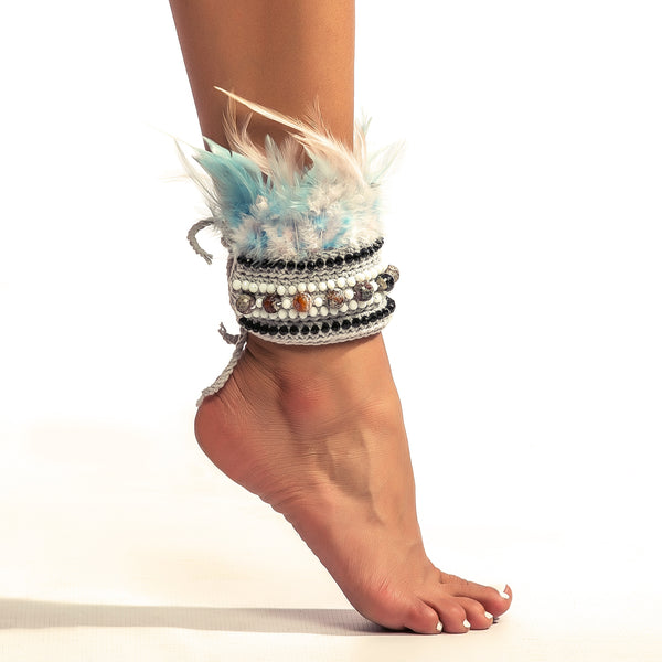 POMPLU Feathers Anklet