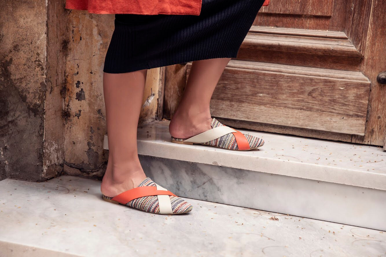 CELLO Fabric Mules