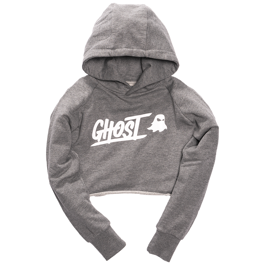 GHOST® WOMEN'S CROPPED HOODIE Heather Grey