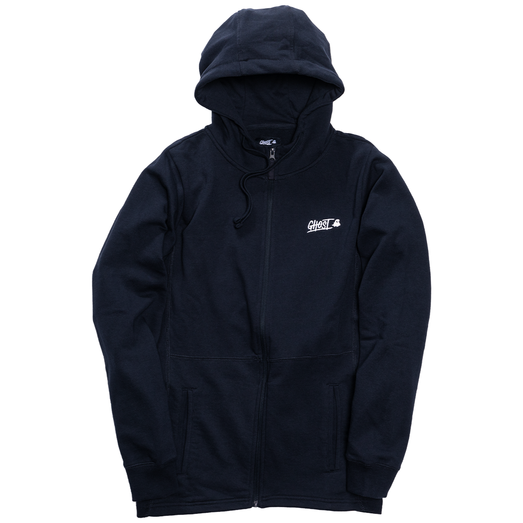 GHOST® ZIP-UP HOODIE Navy
