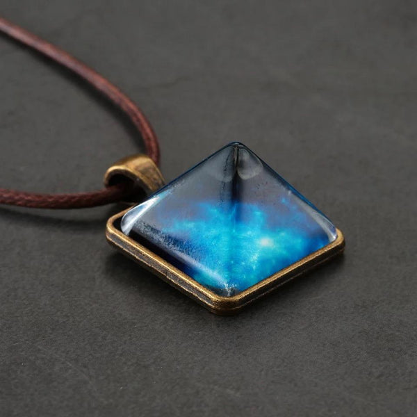 Palo™ - Glowing Pyramid Necklace + FREE Earrings