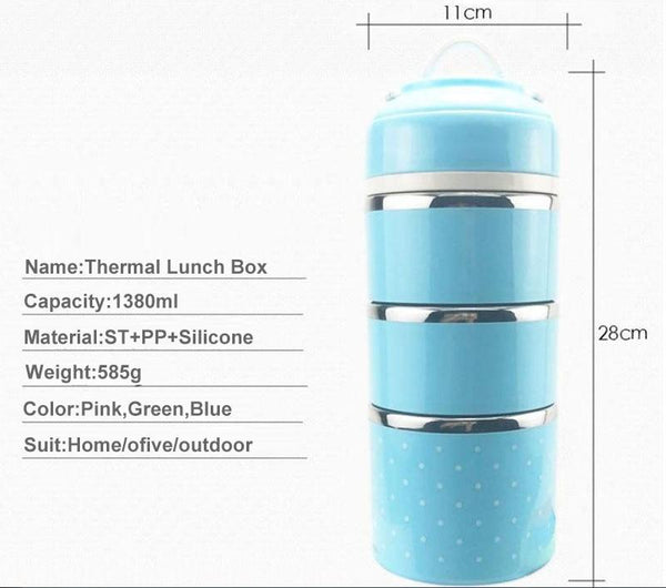 Lunchful - Thermal Multi-Tier Lunch Box