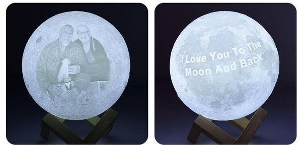 3D Custom Photo Moon Lamp