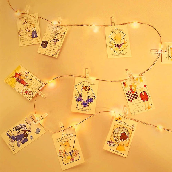 Strung - LED Fairy Light String with Photo Clips
