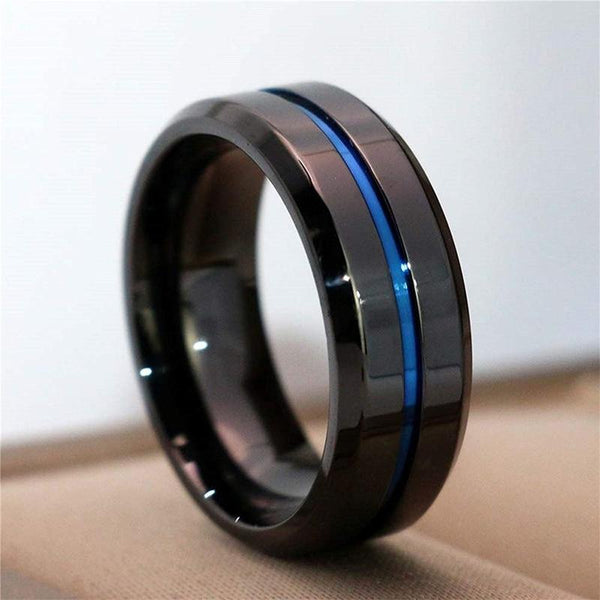Poseidon - Ocean Dark Ring for Men