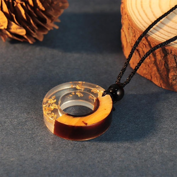 Handmade Wooden Pendant Necklace