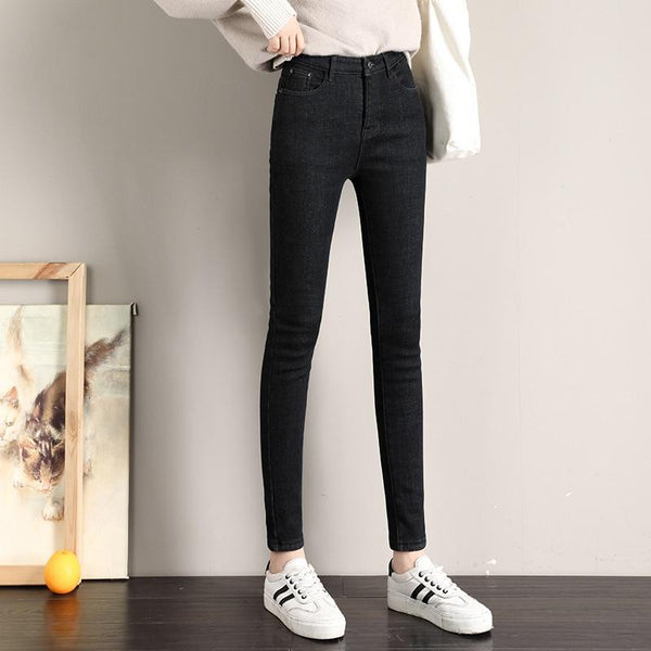 Thick Fleece Lined Jeans