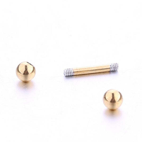 Delicate Bar Bell Stud Earrings