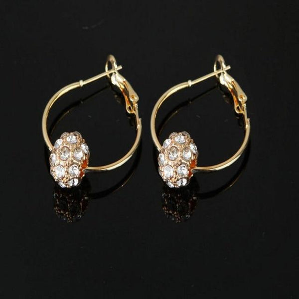 Bronwyn - Crystal Hoop Earrings