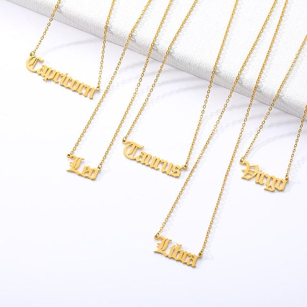 Personalized Zodiac Sign Necklace