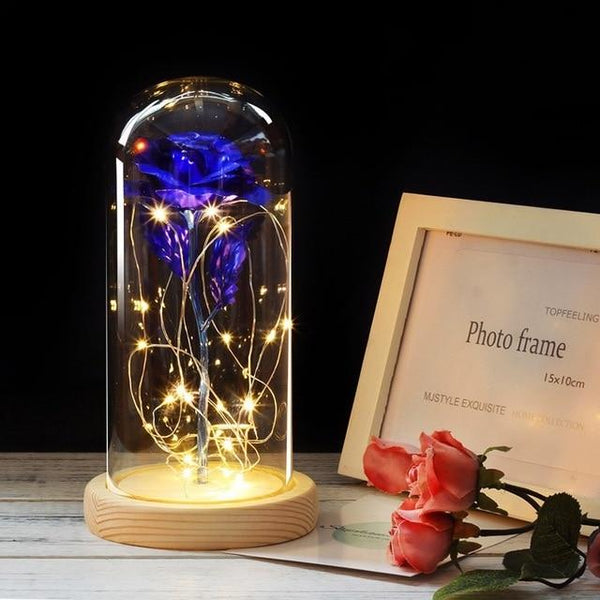 Enchanting Glass Dome LED String Rose