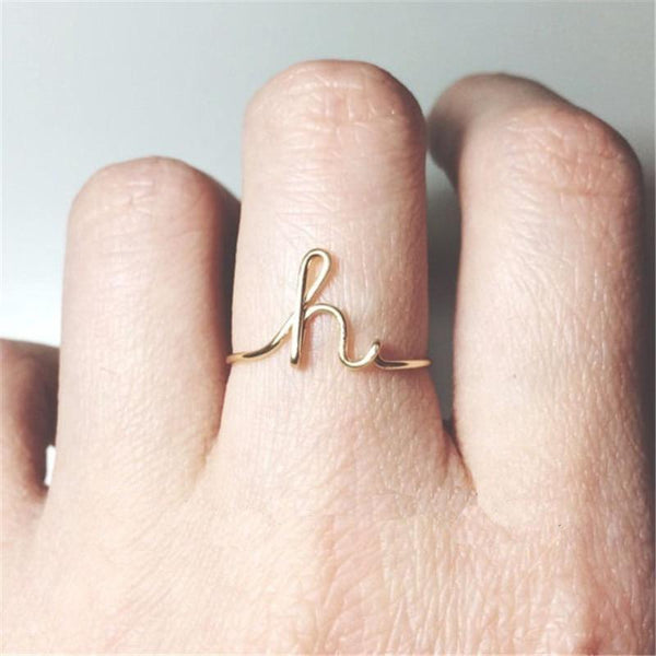 Letterly - Name Letter Ring