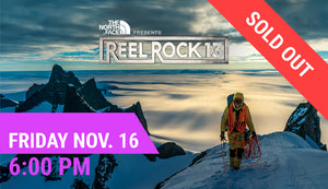 REEL ROCK 13 — Fri Nov. 16 at 6:00 PM (5:15 PM Doors Open)