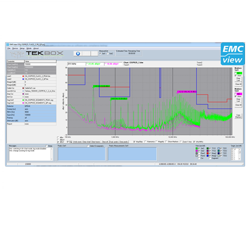 TekBox EMCVIEW PC SOFTWARE FOR EMC PRE-COMPLIANCE TESTING