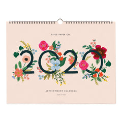 Rifle Paper Co. 2020 Wild Rose Appointment Calendar