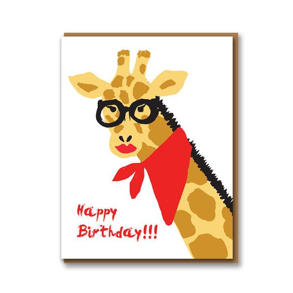 1973 Giraffe Birthday Card