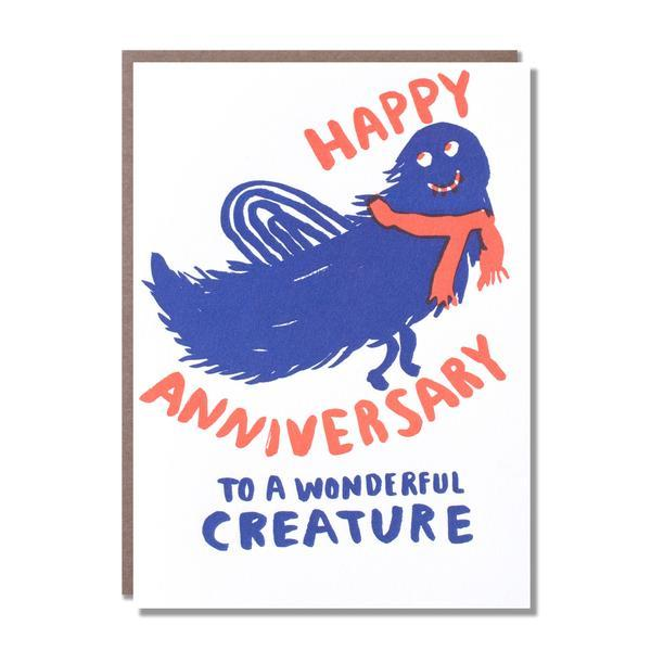 Egg Press Anniversary Monster Card