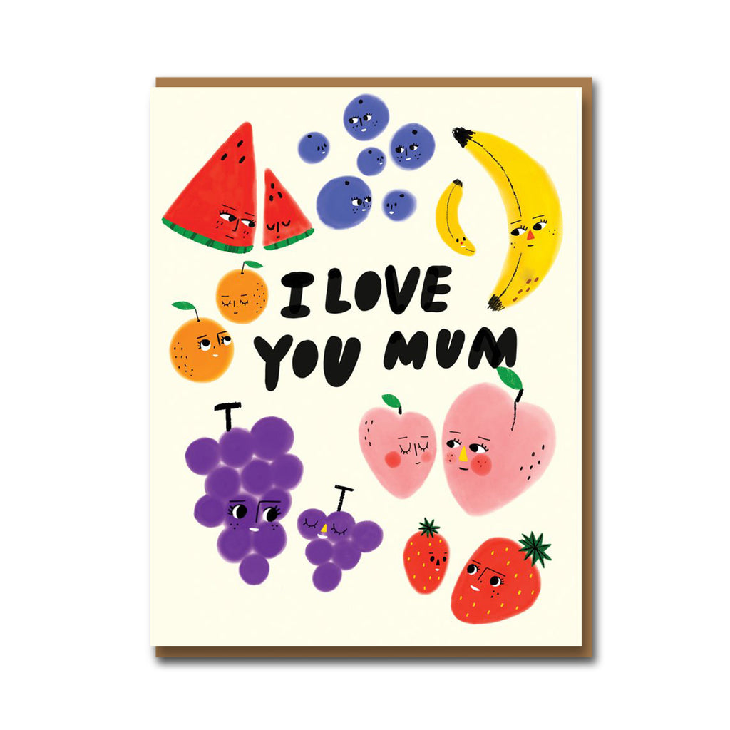 Carolyn Suzuki Fruit Family Mother's Day Card