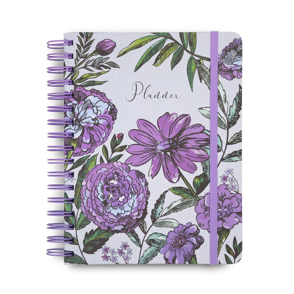 Vera Bradley 12 Month Non-Dated planner, Lavender Meadow