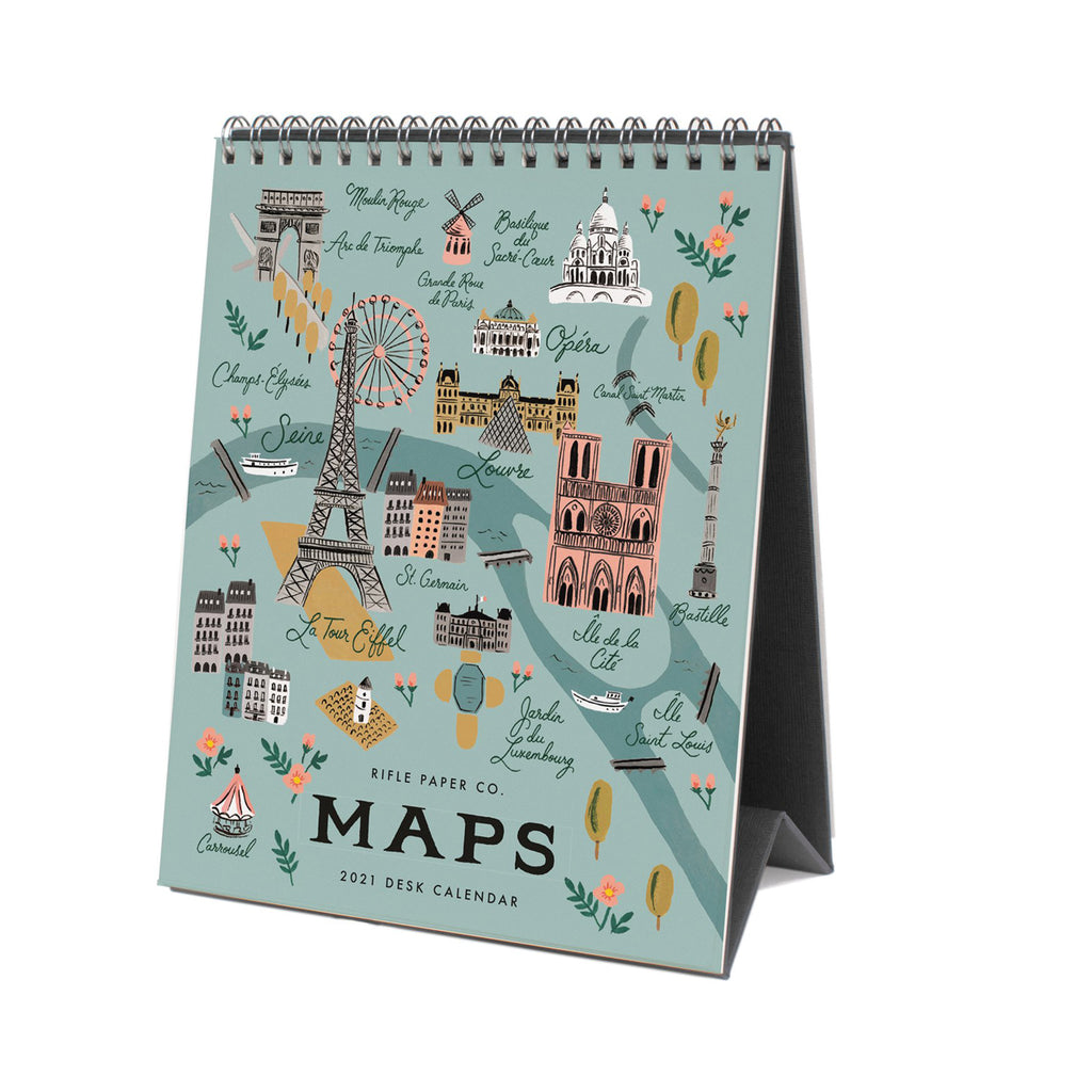 Rifle Paper Co. 2021 City Maps Desk Calendar