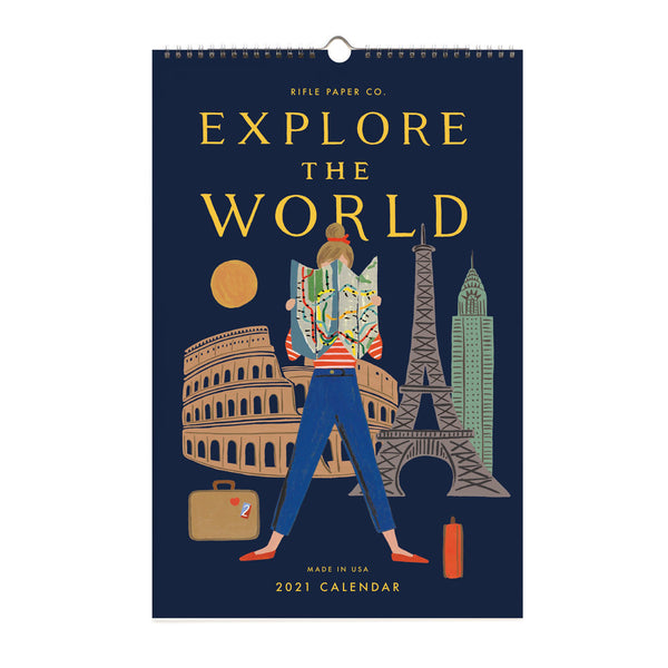 Rifle Paper Co. 2021 Explore The World Calendar