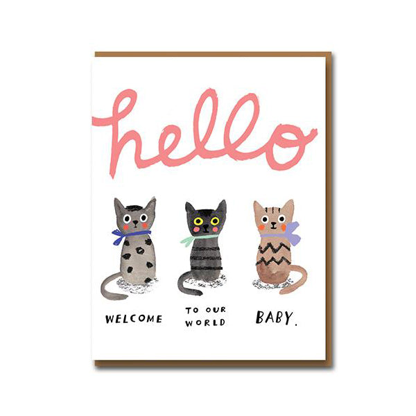 Carolyn Suzuki Three Little Kittens Card