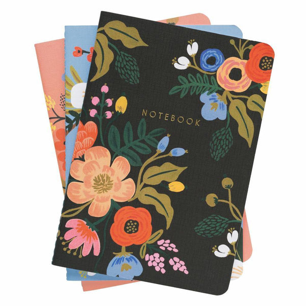 Rifle Paper Co. Set of 3 Lively Floral Notebooks