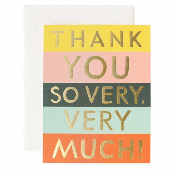 Rifle Paper Co. Colour Block Thank You Card