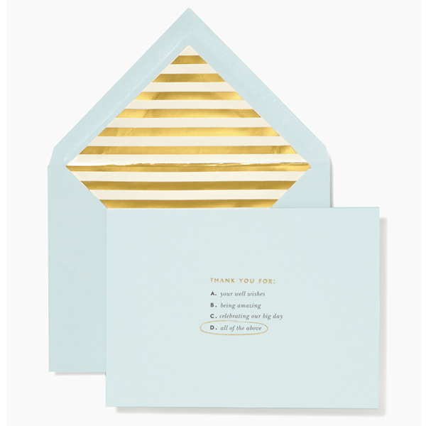 Kate Spade New York Notecard Set - All Of The Above Thank You Cards