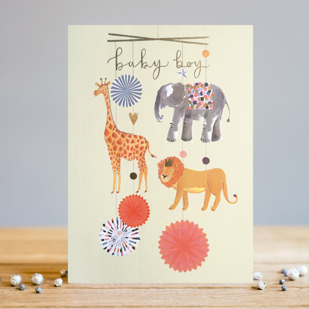 Louise Tiler Baby Boy Mobile Card