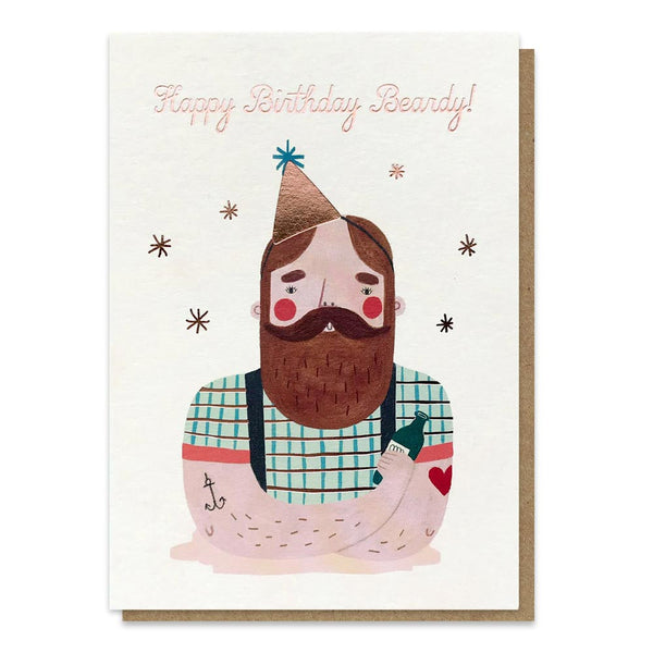 Stormy Knight Birthday Beardy Card
