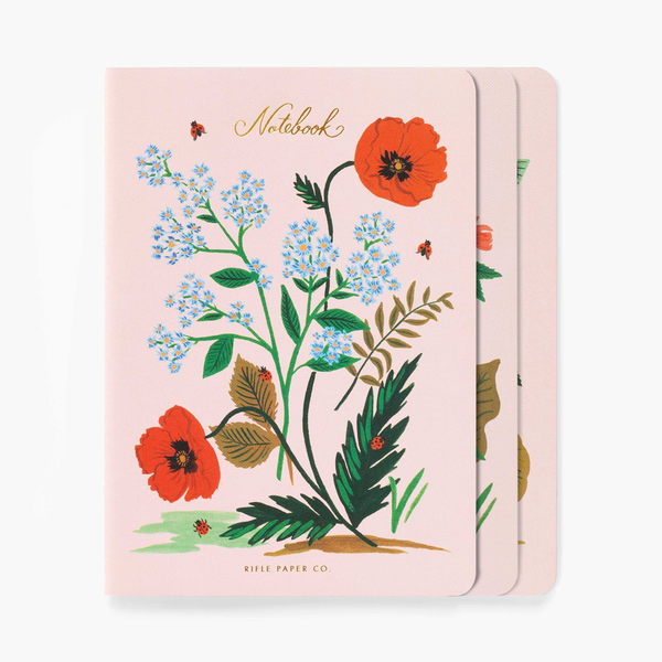 Rifle Paper Co. Set of 3 Botanical Notebooks