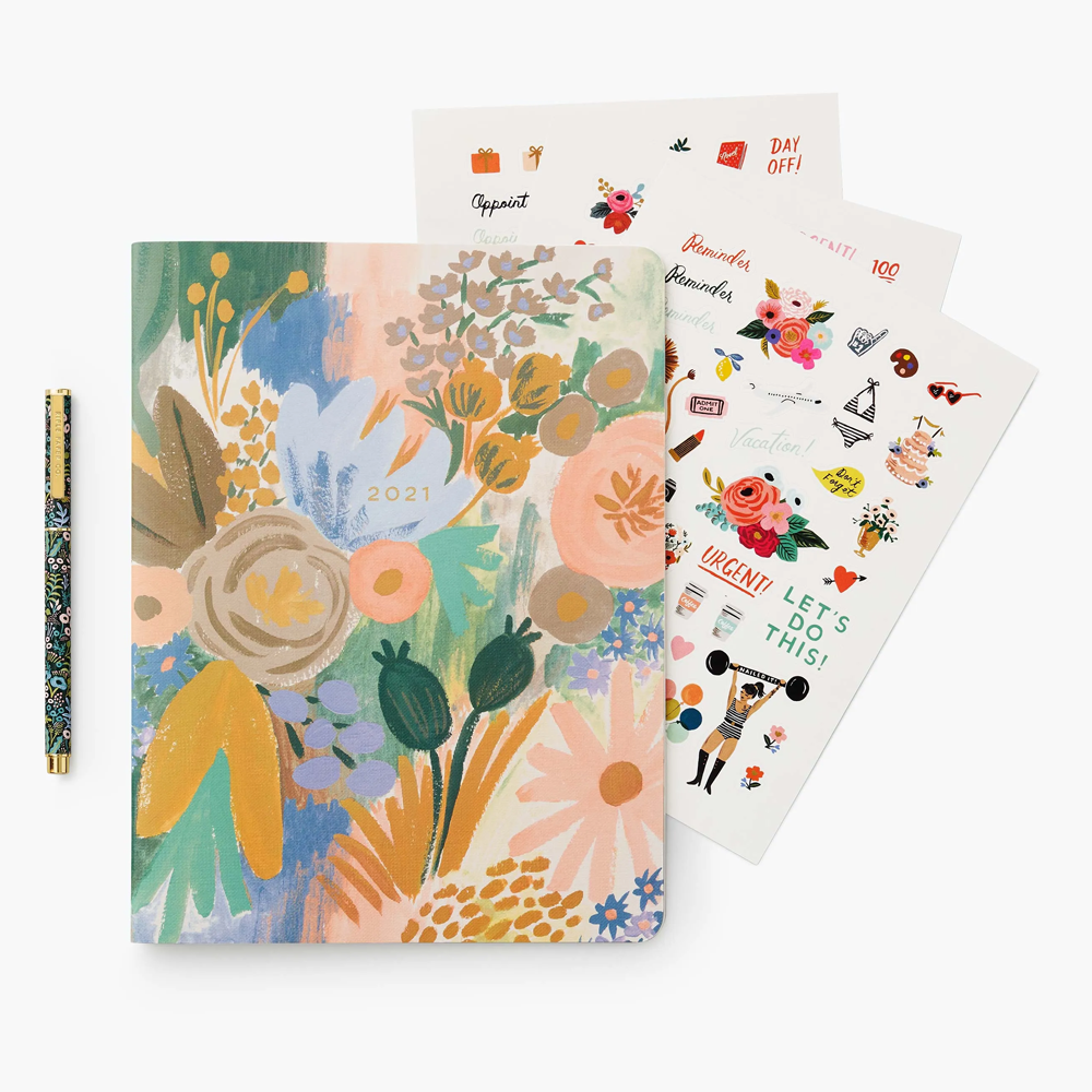 Rifle Paper Co. Luisa 12-Month Appointment Notebook Bundle