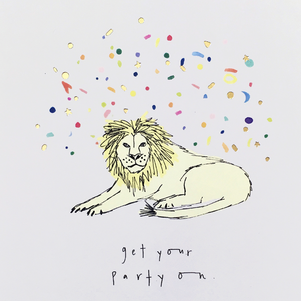 Katie Housley Get Your Party On Birthday Card