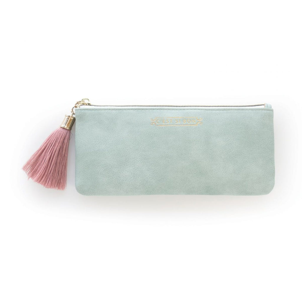 Designworks Ink Tassel Pencil Pouches - Seafoam