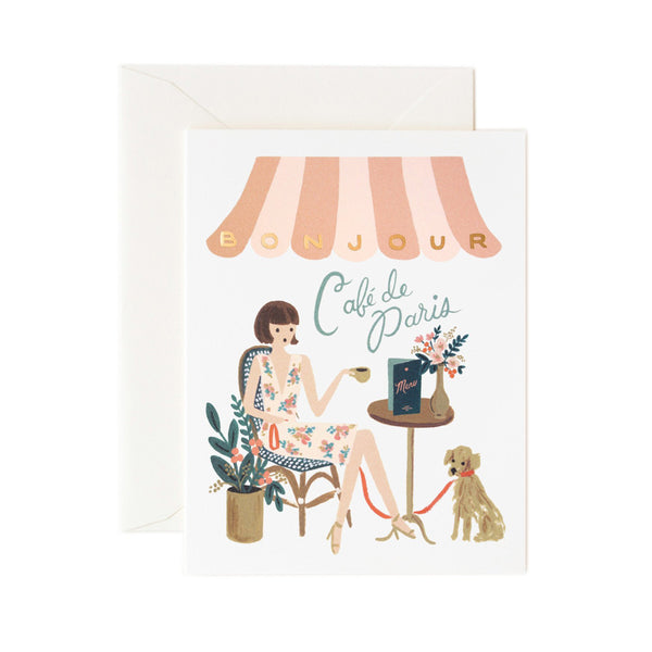Rifle Paper Co. Bonjour Cafe Card
