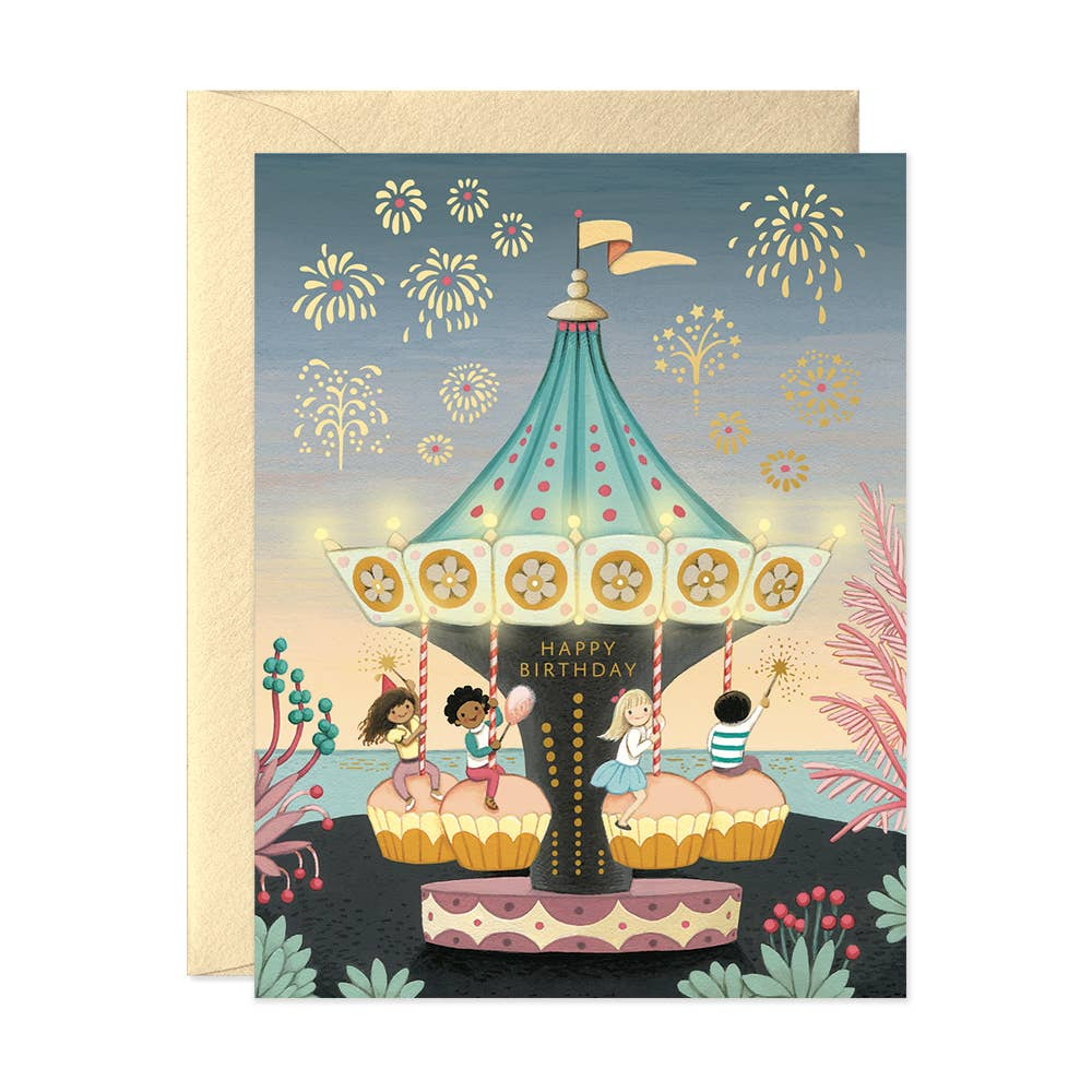 JooJoo Paper Carousel Birthday Card