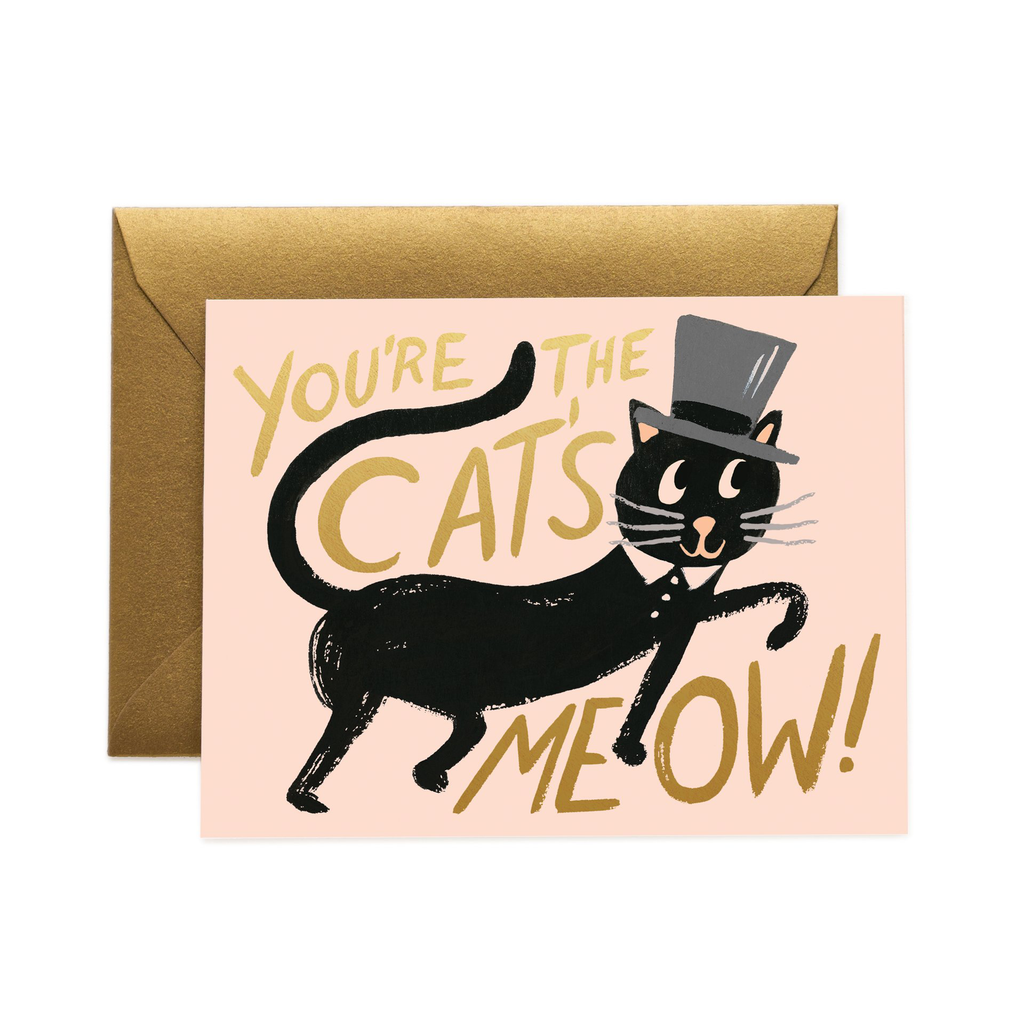 Rifle Paper Co. Cat' Meow Card (Peachy)