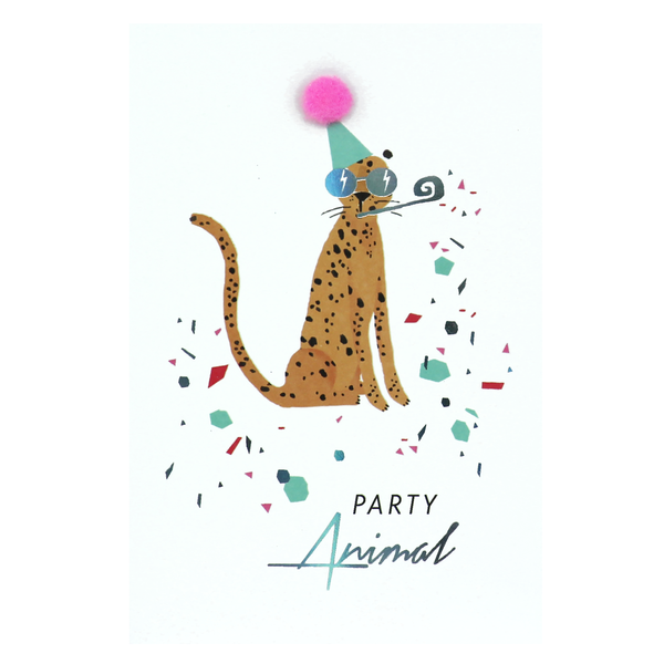 Meraki Cheetah Birthday Card
