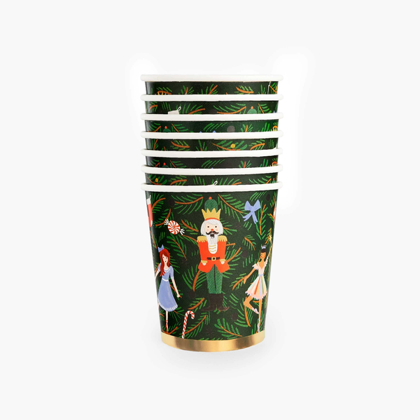 Rifle Paper Co. Holiday Paper Cups - Nutcracker