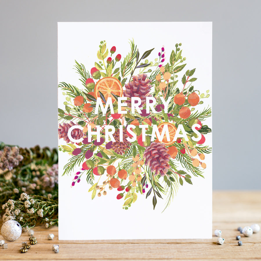 Louise Tiler Christmas Bloom Card