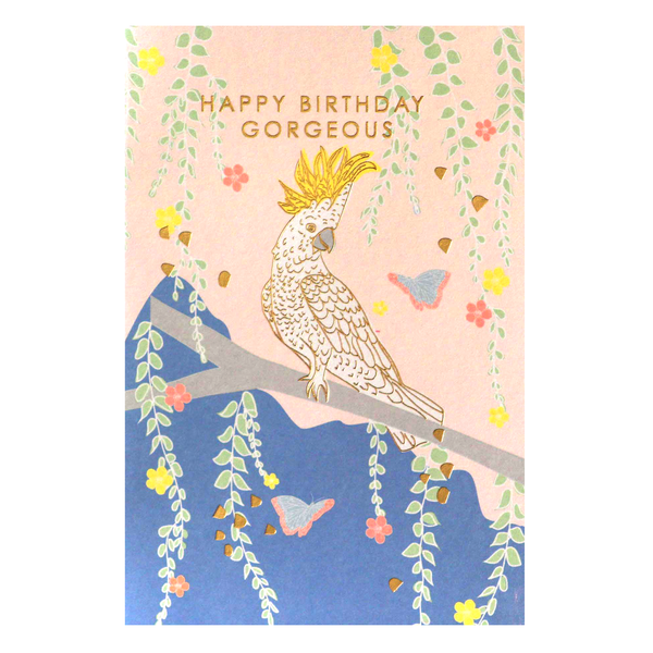 Meraki Cockatoo Birthday Card
