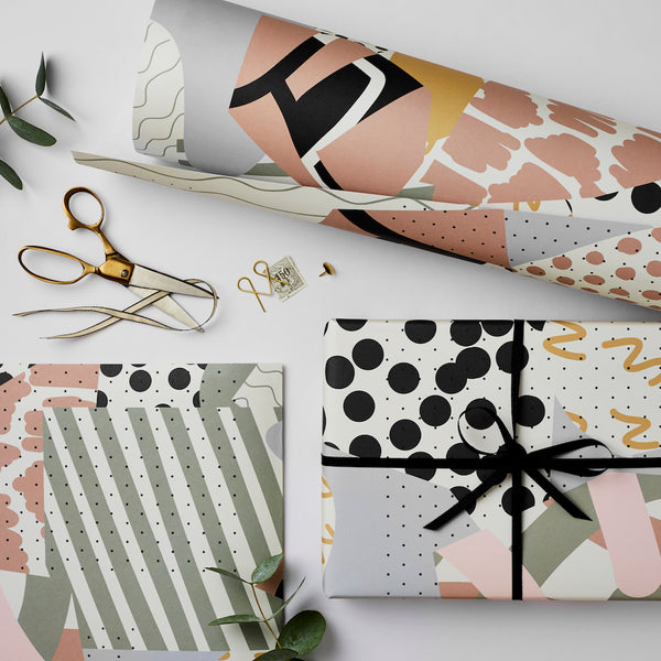 Katie Leamon Collage Gift Wrap