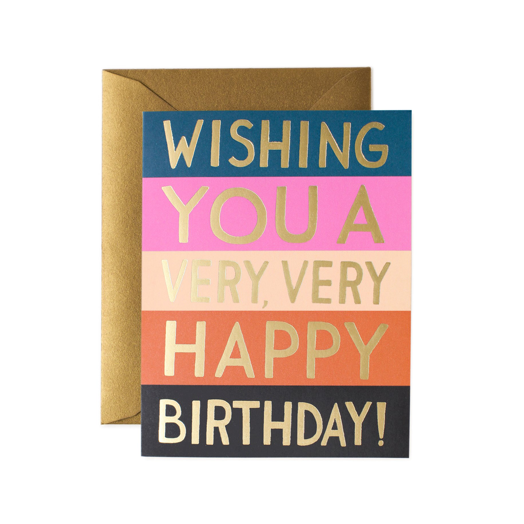 Rifle Paper Co. Colour Block Birthday Card